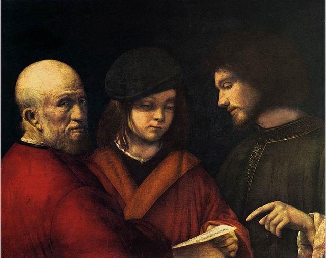 Tatzebao # 9Le tre età dell'uomo Giorgio da Castelfranco, 1500-1501, Galleria palatina, Firenze