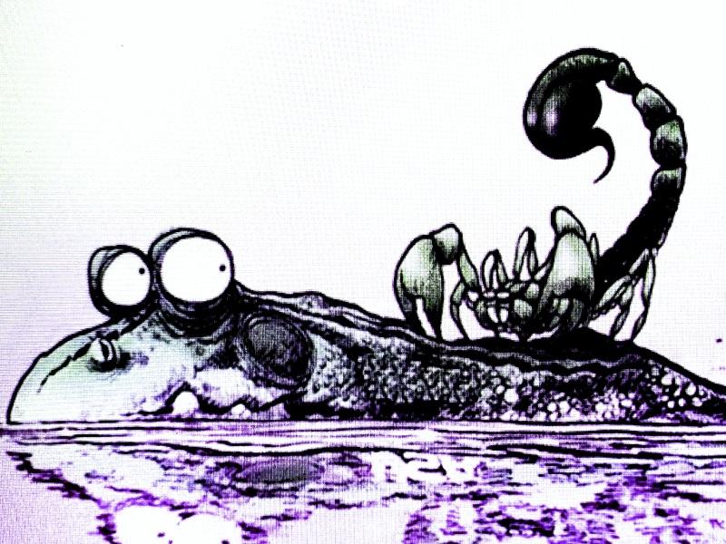 L'indomito scorpione e l'allocca rana (corsi e ricorsi)